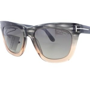Tom Ford Celina Grey/Peach Women's 55mm Sunglasses